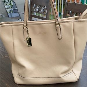 Authentic Coach leather tote